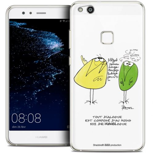 "Extra Slim Crystal Gel Huawei P10 LITE (5.2"") Case Les Shadoks® Le Dialogue"