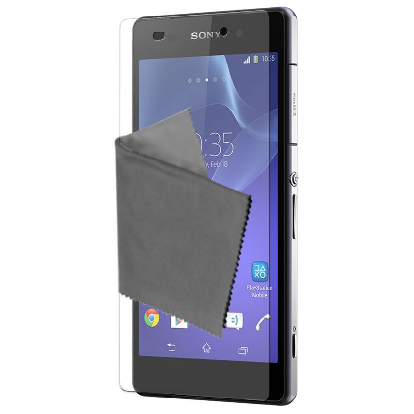Pack of 3 Anti-Fingerprints Screen protector for Sony Xperia Z2 Clubcase ®