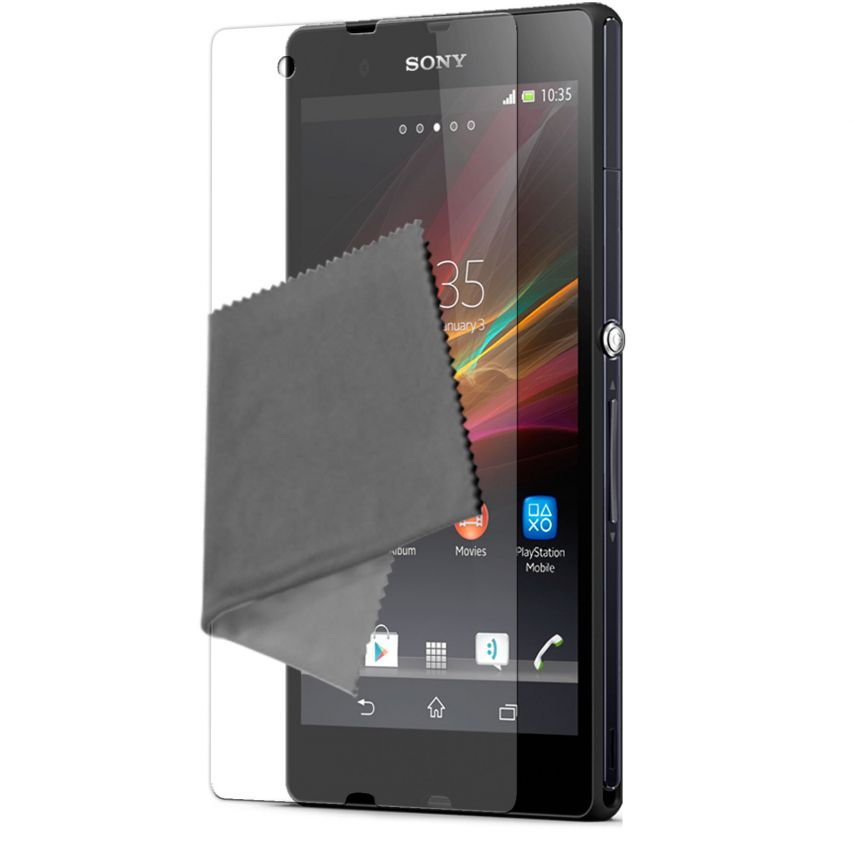 Pack of 3 Anti-Fingerprints Screen protector for Xperia Z Clubcase ®