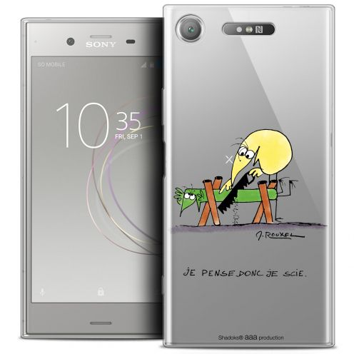 "Extra Slim Crystal Gel Sony Xperia XZ1 (5.2"") Case Les Shadoks® Je pense Donc"