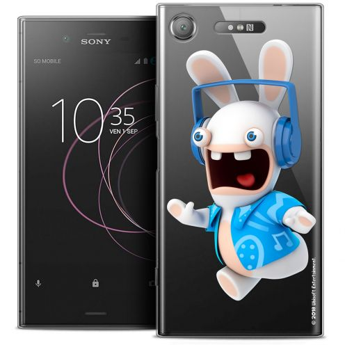 "Crystal Gel Sony Xperia XZ1 (5.2"") Case Lapins Crétins™ Techno Lapin"