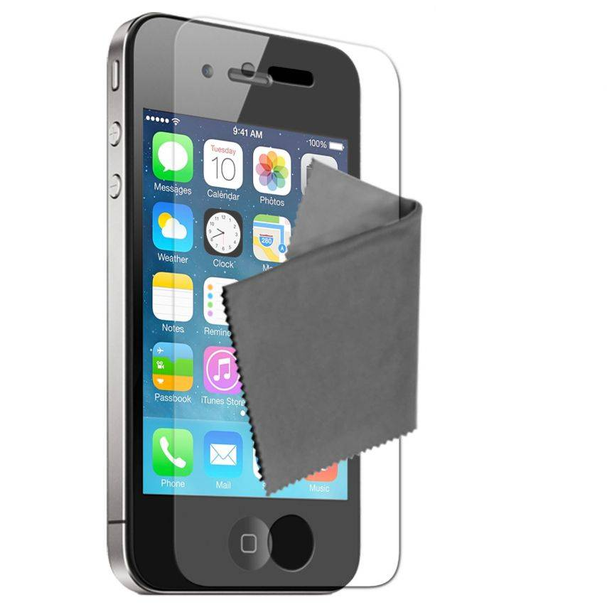 Anti-Fingerprints Screen protector for iPhone 4/4S Clubcase ® set of 2