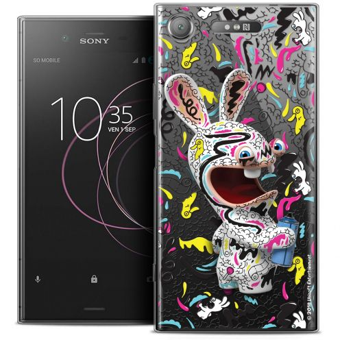"Crystal Gel Sony Xperia XZ1 (5.2"") Case Lapins Crétins™ Tag"