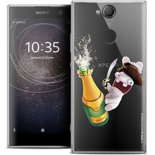 """Crystal Gel Sony Xperia XA2 (5.2"""") Case Lapins Crétins™ Champagne !"""