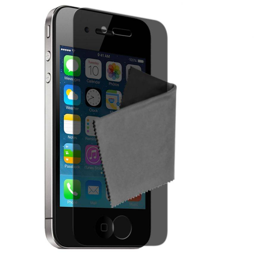 Clubcase ® Privacy Anti-glare screen protector for iPhone 4/4S set of 2