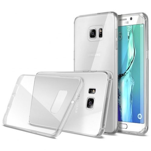 Ultra thin 0.5 mm Crystal Clear View Flexible Case for Samsung Galaxy S6 Edge+ / Plus