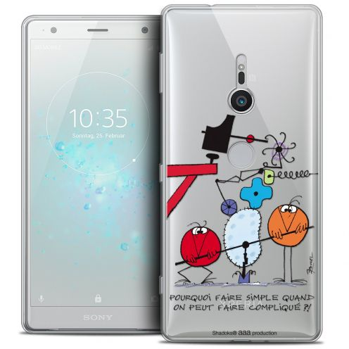 "Extra Slim Crystal Gel Sony Xperia XZ2 (5.7"") Case Les Shadoks® Pourquoi faire Simple"