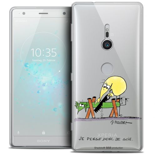 "Extra Slim Crystal Gel Sony Xperia XZ2 (5.7"") Case Les Shadoks® Je pense Donc"