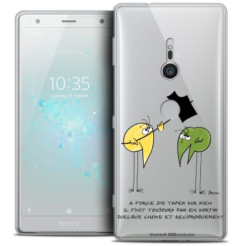 "Extra Slim Crystal Gel Sony Xperia XZ2 (5.7"") Case Les Shadoks® A Force"