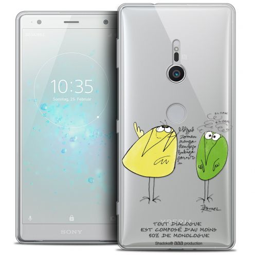 "Extra Slim Crystal Gel Sony Xperia XZ2 (5.7"") Case Les Shadoks® Le Dialogue"