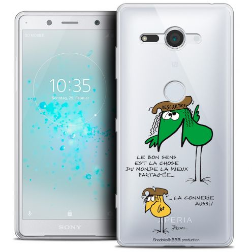"Extra Slim Crystal Gel Sony Xperia XZ2 Compact (5.0"") Case Les Shadoks® Le Partage"
