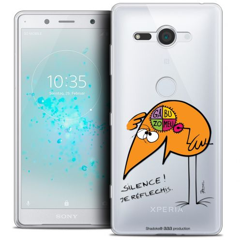 "Extra Slim Crystal Gel Sony Xperia XZ2 Compact (5.0"") Case Les Shadoks® Silence !"