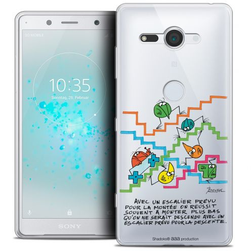 "Extra Slim Crystal Gel Sony Xperia XZ2 Compact (5.0"") Case Les Shadoks® L'escalier"