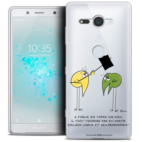 "Extra Slim Crystal Gel Sony Xperia XZ2 Compact (5.0"") Case Les Shadoks® A Force"