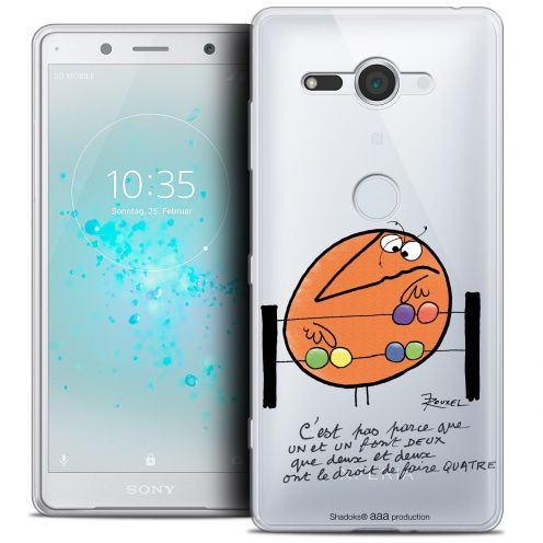 "Extra Slim Crystal Gel Sony Xperia XZ2 Compact (5.0"") Case Les Shadoks® Mathématique"