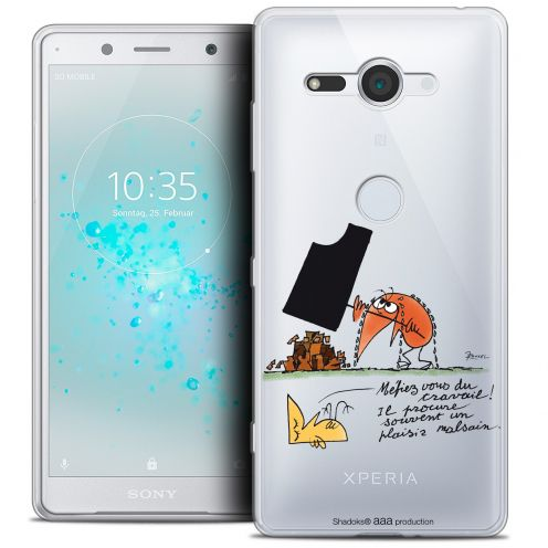 "Extra Slim Crystal Gel Sony Xperia XZ2 Compact (5.0"") Case Les Shadoks® Le Travail"
