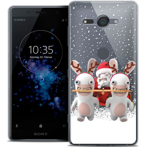 "Crystal Gel Sony Xperia XZ2 Compact (5.0"") Case Lapins Crétins™ Lapin Traineau"
