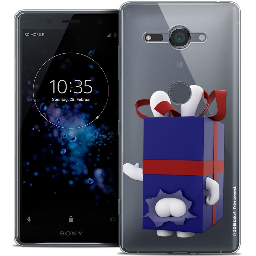 "Crystal Gel Sony Xperia XZ2 Compact (5.0"") Case Lapins Crétins™ Lapin Surprise Bleu"