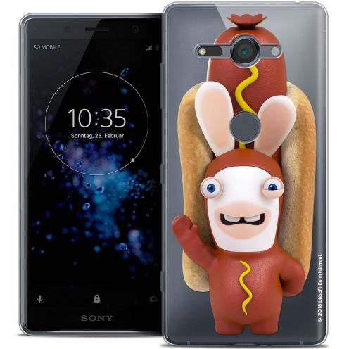 "Crystal Gel Sony Xperia XZ2 Compact (5.0"") Case Lapins Crétins™ Hot Dog Crétin"