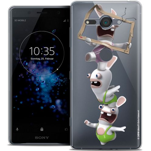 "Crystal Gel Sony Xperia XZ2 Compact (5.0"") Case Lapins Crétins™ TV Sport"