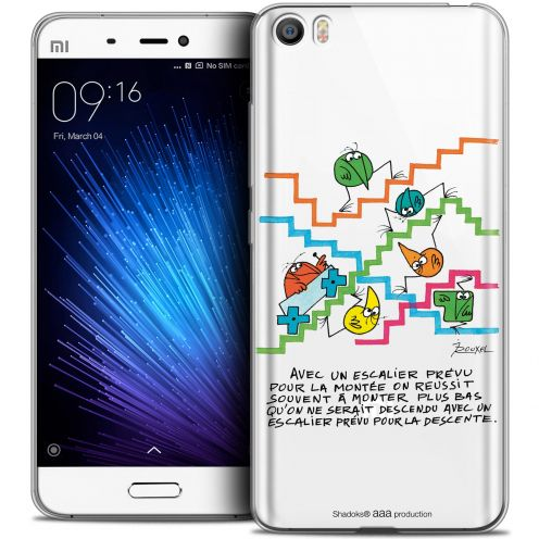 Extra Slim Crystal Gel Xiaomi Mi 5 Case Les Shadoks® L'escalier