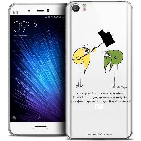 Extra Slim Crystal Gel Xiaomi Mi 5 Case Les Shadoks® A Force