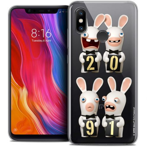 "Crystal Gel Xiaomi Mi 8 (6.21"") Case Lapins Crétins™ New Year"