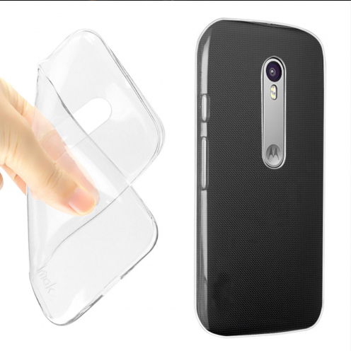 Ultra thin 0.5 mm Crystal Clear View Flexible Case for Motorola Moto G3