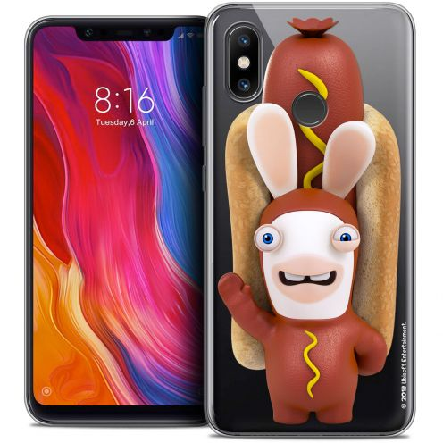 "Crystal Gel Xiaomi Mi 8 (6.21"") Case Lapins Crétins™ Hot Dog Crétin"