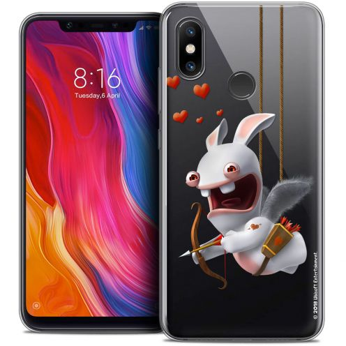 "Crystal Gel Xiaomi Mi 8 (6.21"") Case Lapins Crétins™ Flying Cupidon"