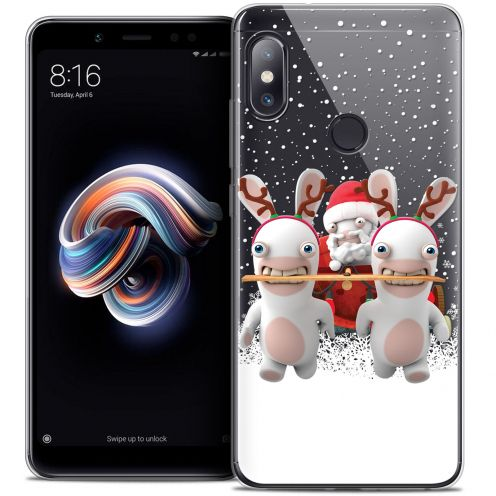 """Crystal Gel Xiaomi Redmi Note 5 (5.99"""") Case Lapins Crétins™ Lapin Traineau"""