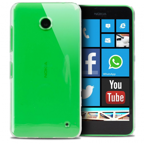 Slim Crystal Clear Hard Case for Nokia Lumia 630/635