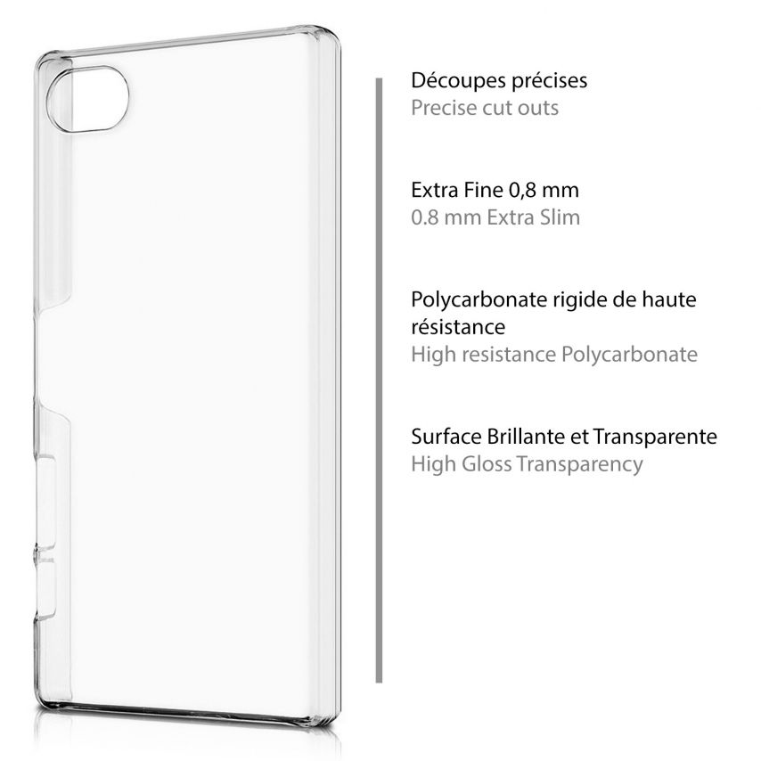 Slim Crystal Clear Hard Case for Sony Xperia Z5 Compact