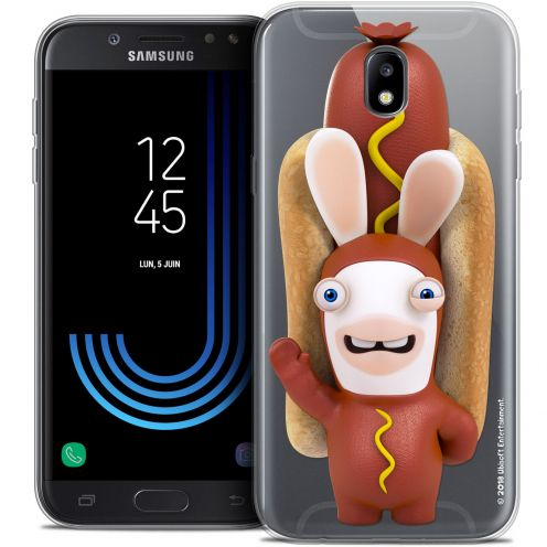 "Crystal Gel Samsung Galaxy J7 2017 J730 (5.5"") Case Lapins Crétins™ Hot Dog Crétin"
