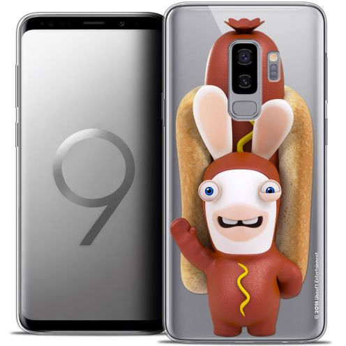 "Crystal Gel Samsung Galaxy S9+ (6.2"") Case Lapins Crétins™ Hot Dog Crétin"