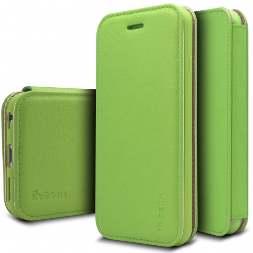 iHosen® Apple iPhone 6/6s Shine Magnet Folio Case - Green