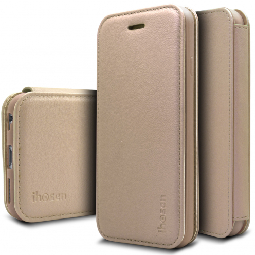 iHosen® Apple iPhone 6/6s Shine Magnet Folio Case - Gold