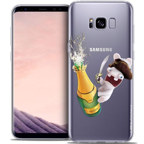 Crystal Gel Samsung Galaxy S8+/ Plus (G955) Case Lapins Crétins™ Champagne !