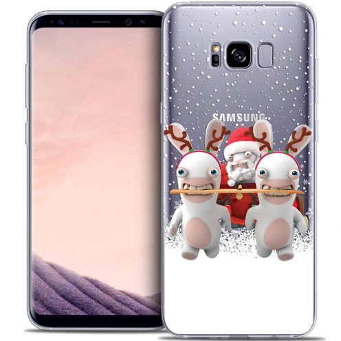 Crystal Gel Samsung Galaxy S8+/ Plus (G955) Case Lapins Crétins™ Lapin Traineau