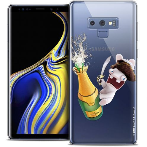 "Crystal Gel Samsung Galaxy Note 9 (6.4"") Case Lapins Crétins™ Champagne !"