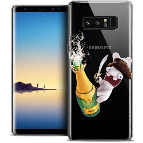 """Crystal Gel Samsung Galaxy Note 8 (6.3"""") Case Lapins Crétins™ Champagne !"""