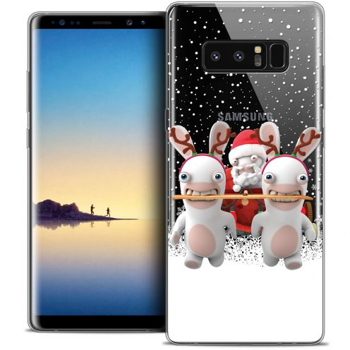 """Crystal Gel Samsung Galaxy Note 8 (6.3"""") Case Lapins Crétins™ Lapin Traineau"""