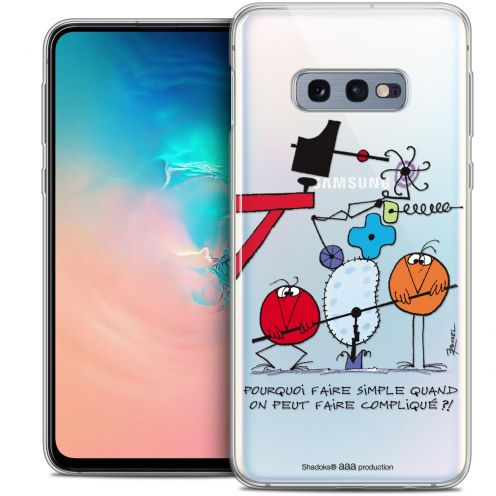 """Extra Slim Crystal Gel Samsung Galaxy S10e (5.8"""") Case Les Shadoks® Pourquoi faire Simple"""