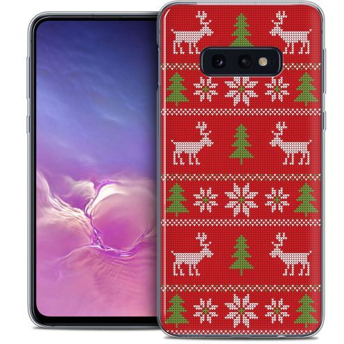 """Extra Slim Crystal Gel Samsung Galaxy S10e (5.8"""") Case Noël 2017 Couture Rouge"""