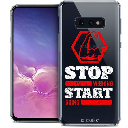 """Extra Slim Crystal Gel Samsung Galaxy S10e (5.8"""") Case Quote Start Doing"""