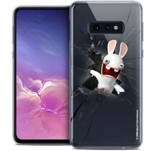 """Crystal Gel Samsung Galaxy S10e (5.8"""") Case Lapins Crétins™ Breaking Glass"""