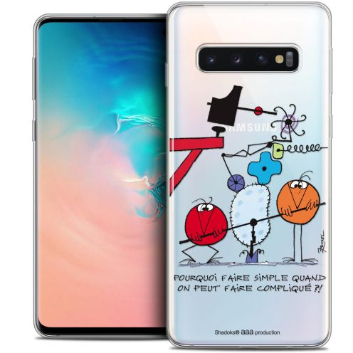 """Extra Slim Crystal Gel Samsung Galaxy S10 (6.1"""") Case Les Shadoks® Pourquoi faire Simple"""
