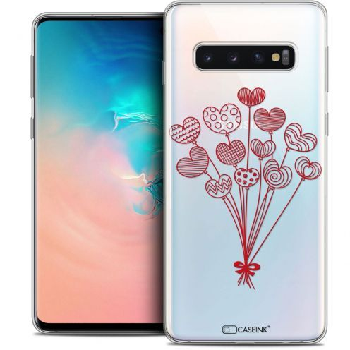 "Extra Slim Crystal Gel Samsung Galaxy S10 (6.1"") Case Love Ballons d'amour"
