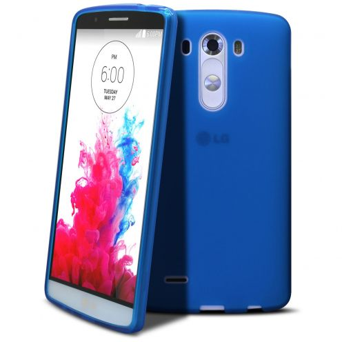 Frozen Ice Extra Slim soft Blue case for LG G3
