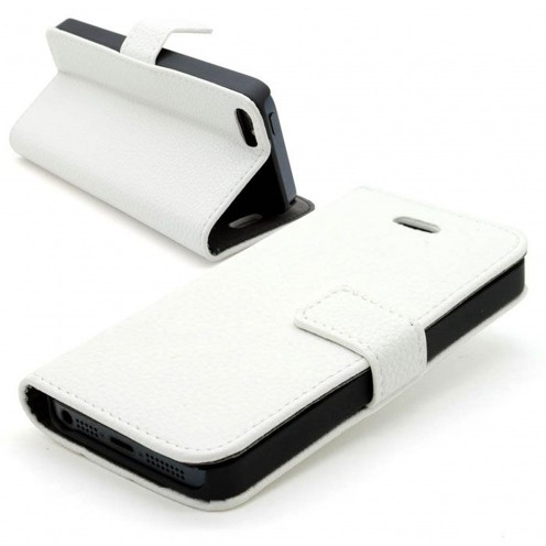 Smart Cover iPhone 5 leatherette full flower white